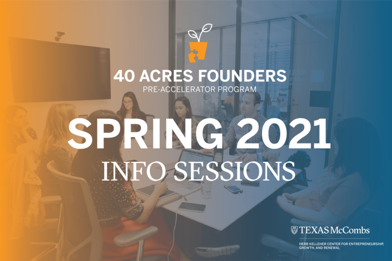 Forty Acres Founders Pre-Accelerator Program Info Session Hero Images