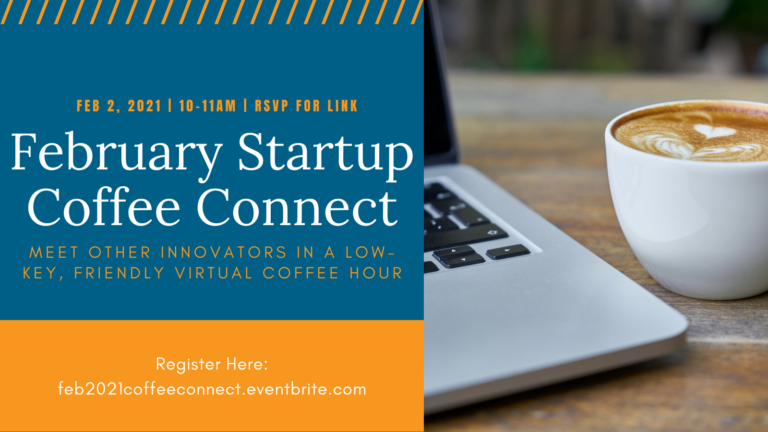 Startup Coffee Connect Banner - Coffee and laptop